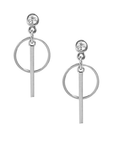 Foxy Originals Horizon Pave Drop Earrings-SILVER-One Size