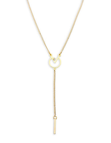 Foxy Originals Meridian Geometic Y Necklace-GOLD-One Size