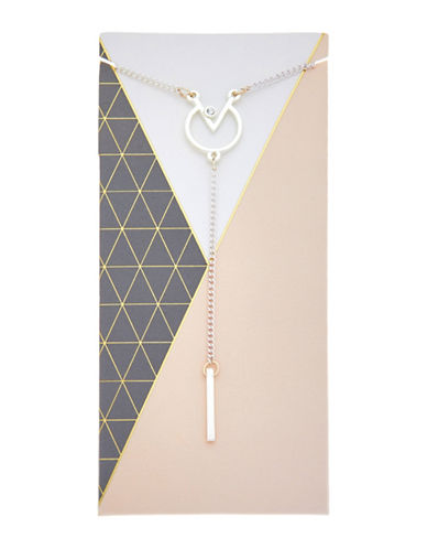 Foxy Originals Meridian Geometic Y Necklace-SILVER-One Size