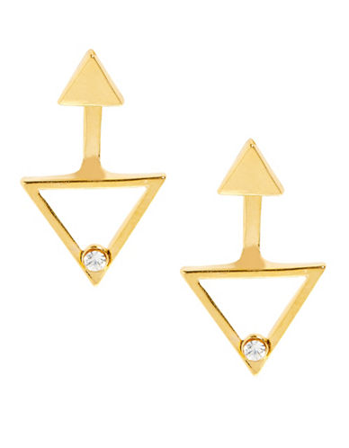 Foxy Originals Prism Crystal Goldplated Ear Jackets-GOLD-One Size