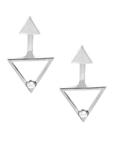 Foxy Originals Prism Crystal Silverplated Ear Jackets-SILVER-One Size