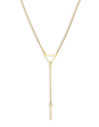 Foxy Originals Prism Crystal Goldplated Y-Necklace-GOLD-One Size