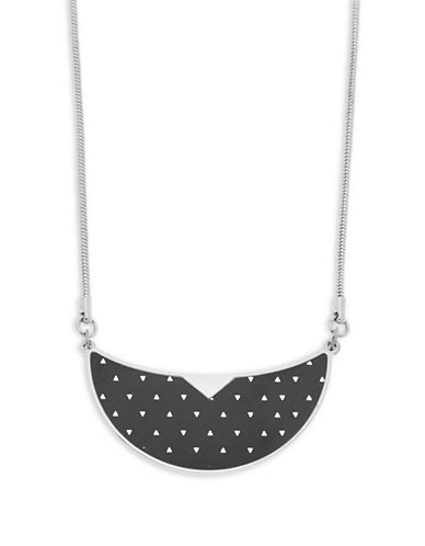 Foxy Originals Monroe Bib Silverplated Necklace-SILVER-One Size