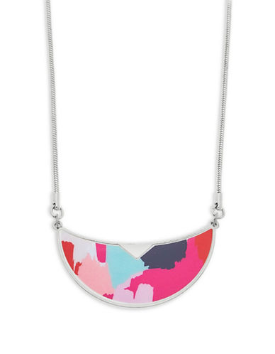 Foxy Originals Warhol Bib Silverplated Necklace-SILVER-One Size