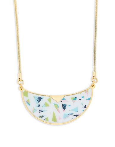 Foxy Originals Terrazzo Bib Goldplated Necklace-GOLD-One Size