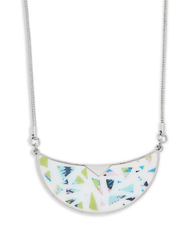Foxy Originals Terrazzo Bib Silverplated Necklace-SILVER-One Size