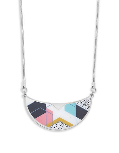 Foxy Originals Sadie Bib Silverplated Necklace-SILVER-One Size