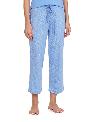 Nautica Knit Print Drawstring Pyjama Pants-BLUE-Medium 88370105_BLUE_Medium