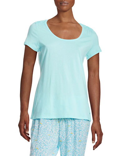 Nautica Smock Sleepwear T-Shirt-TEAL-Medium