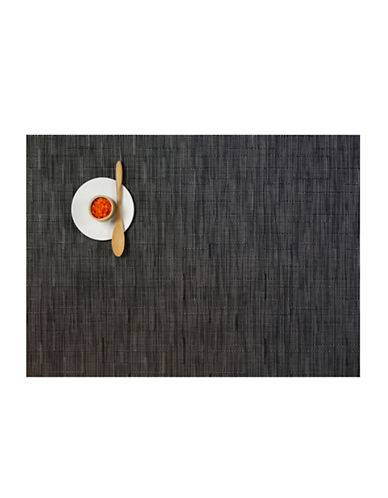 Chilewich Bamboo-Weave Vinyl Placemat-SMOKE-One Size