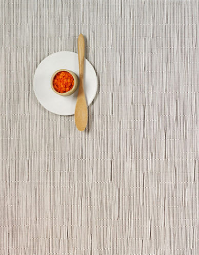 Chilewich Rectangular Bamboo Placemat-WHITE-One Size