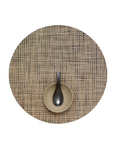 Chilewich Round Basketweave Vinyl Placemat-BARK-One Size