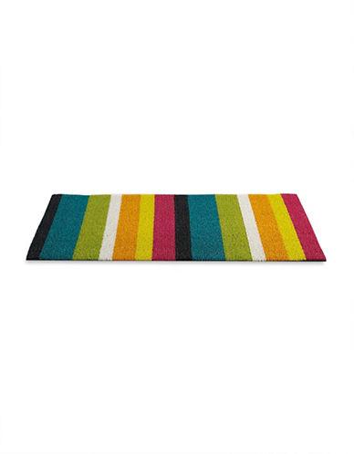Chilewich Bold Stripe Shag Doormat-MULTI-18x28
