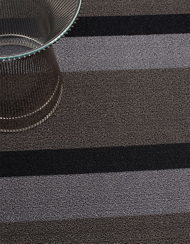 Chilewich Striped Indoor/Outdoor Big Mat-SILVER-18x28