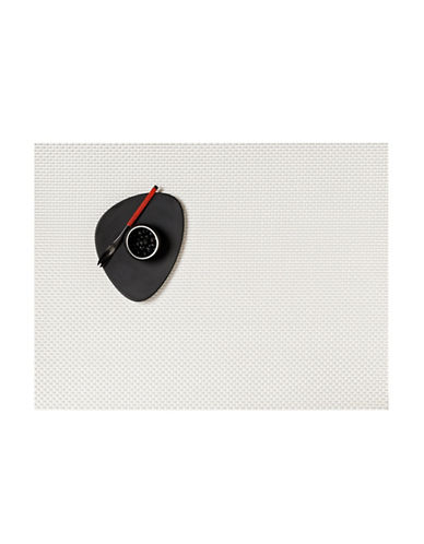 Chilewich Basketweave Vinyl Placemat-WHITE-One Size