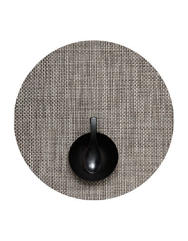 Chilewich Round Basketweave Vinyl Placemat-OYSTER-One Size