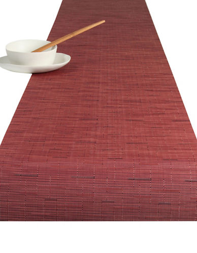 Chilewich Bamboo Vinyl Table Runner-CRANBERRY-One Size