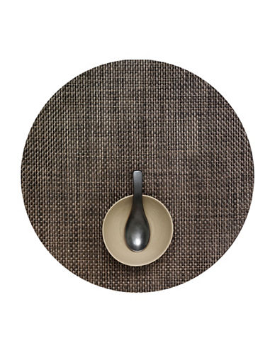 Chilewich Round Basketweave Vinyl Placemat-EARTH-One Size