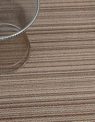 Chilewich Shag Skinny Stripe Mat in Mushroom-MUSHROOM-18x28