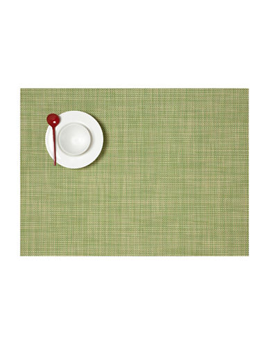 Chilewich Mini Basketweave Placemat-GREEN-14X19