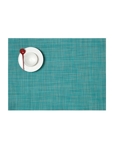 Chilewich Mini-Basketweave Vinyl Placemat-TURQUOISE-One Size