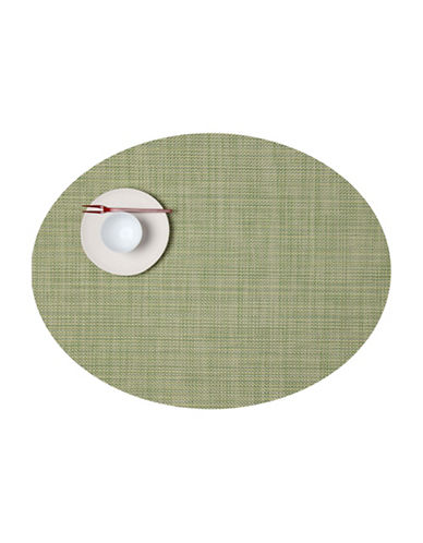 Chilewich Oval Mini-Basketweave Vinyl Placemat-DILL-One Size