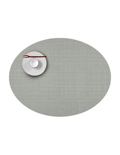 Chilewich Oval Mini-Basketweave Vinyl Placemat-ALOE-One Size