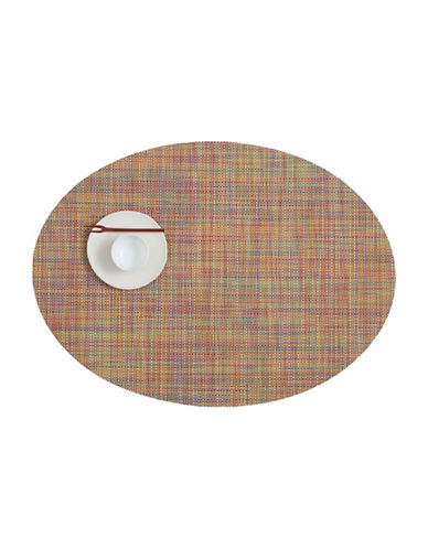 Chilewich Oval Mini-Basketweave Vinyl Placemat-CONFETTI-One Size