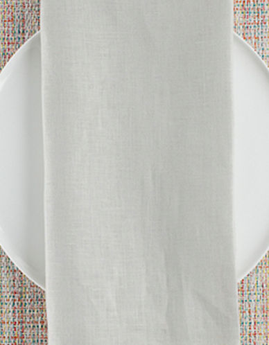 Chilewich Linen Napkin-LIGHT GREY-One Size