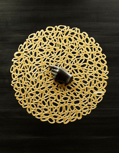 Chilewich Pebble Round Placemat-BROWN-One Size