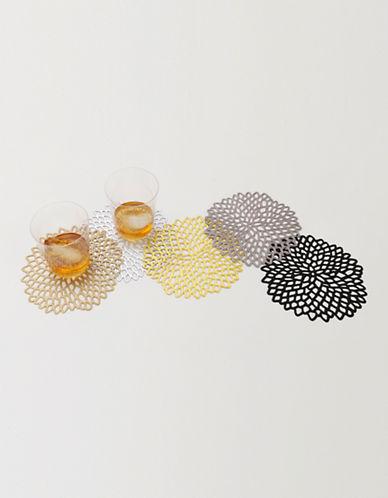 Chilewich Dahlia Coasters-GREY-One Size