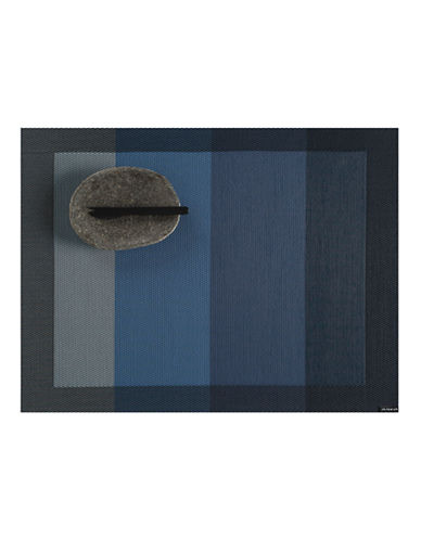 Chilewich Colourblocked Tempo Placemat-INDIGO-One Size