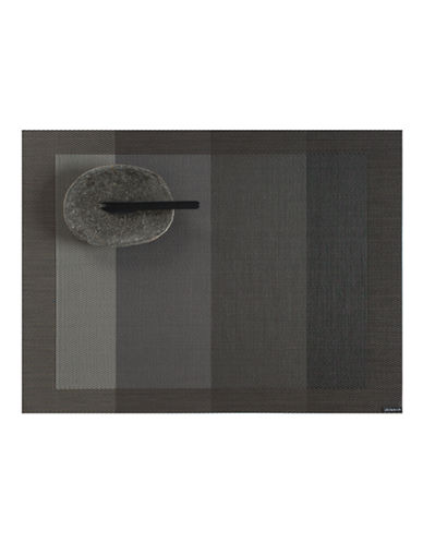 Chilewich Colourblocked Tempo Placemat-SLATE-One Size