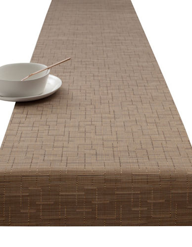 Chilewich Bamboo Vinyl Table Runner-AMBER-One Size