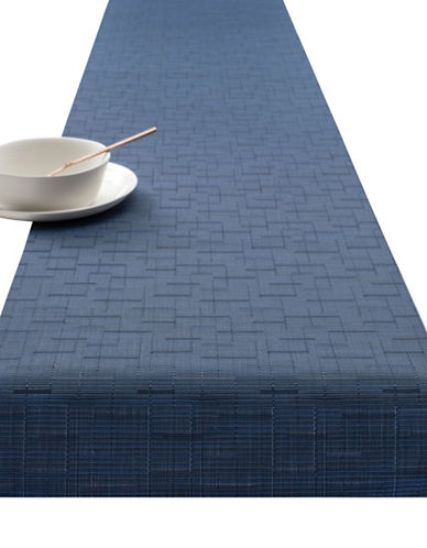 Chilewich Bamboo Vinyl Table Runner-LAPIS-One Size