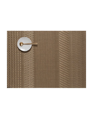 Chilewich Mixed Weave Luxe Gold Placemat-GOLD-14X19