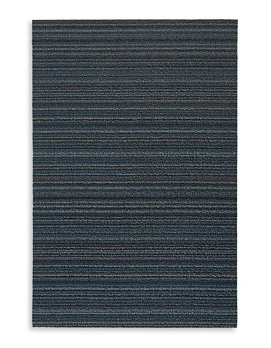 Chilewich Skinny Stripe Shag Utility Mat-BLUE-2 x 3
