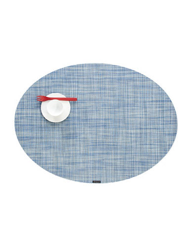 Chilewich Oval Mini-Basketweave Vinyl Placemat-CHAMBRAY-One Size
