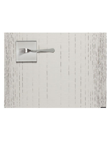 Chilewich Dash Table Mat-GREY-One Size