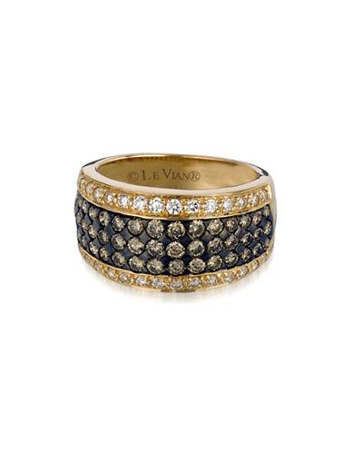 Le Vian 14K Gold Two-Tone Diamond Encrusted Ring-WHITE-7