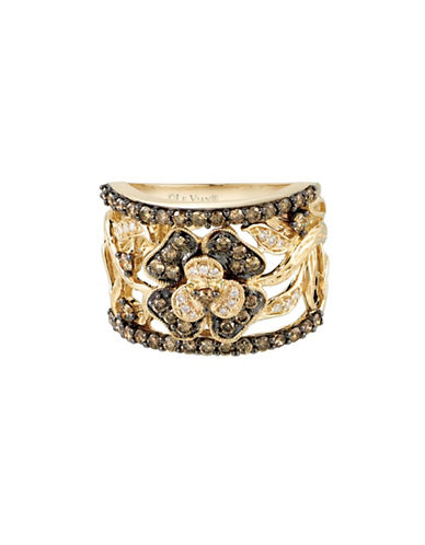 Le Vian 14K Honey Gold Chocolatier Florets Ring-WHITE-7