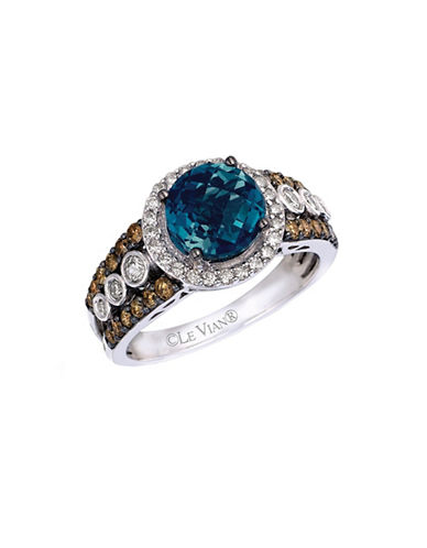 Le Vian 14k White Gold Ring with Blue Topaz and 0.35 TCW Diamonds-BLUE TOPAZ-7