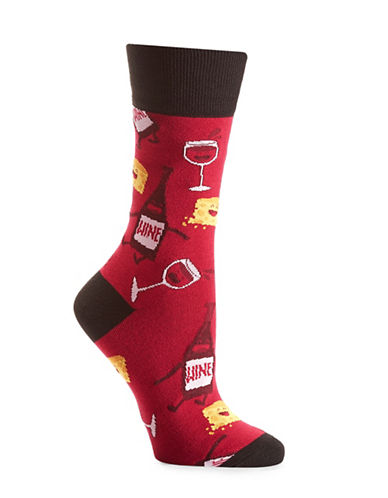 Yo Sox Wine Socks-RED-One Size