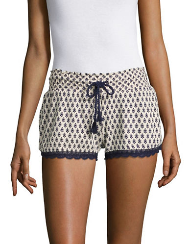 Pj Salvage Lace-Trim Shorts-BEIGE-Medium