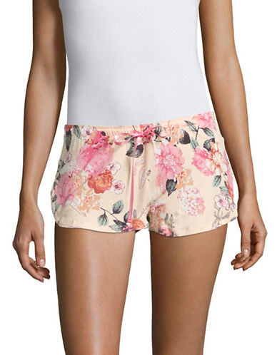 Pj Salvage Rosy Outlook Sleep Shorts-PINK-Large