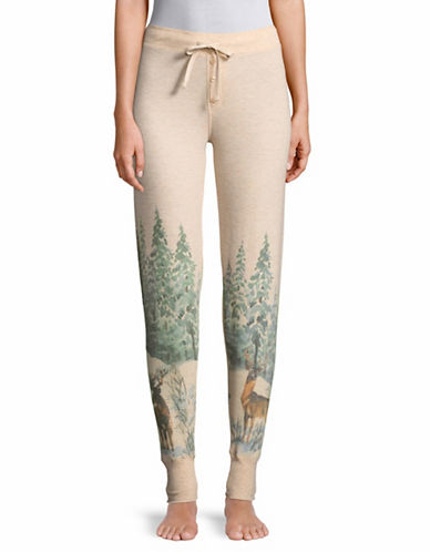 Pj Salvage Lost in Wonder Deer Pajama Pants-OATMEAL-Small
