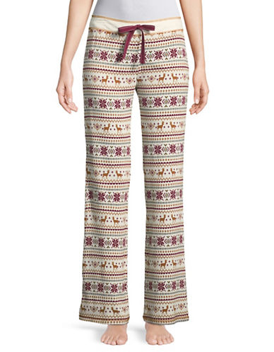 Pj Salvage Lost Wonder Deer Fairis Pyjama Pants-IVORY-Medium