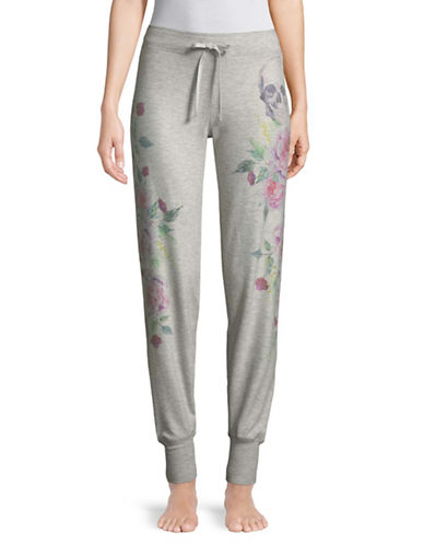 Pj Salvage Jammie Skulls and Roses Pyjama Pants-GREY-Medium