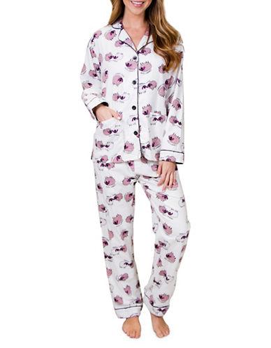 Pj Salvage Sheepy Time Flannel Pajamas-IVORY-Small