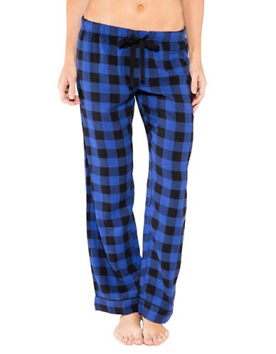 Pj Salvage Royal Romance Check Pants-ROYAL-Medium